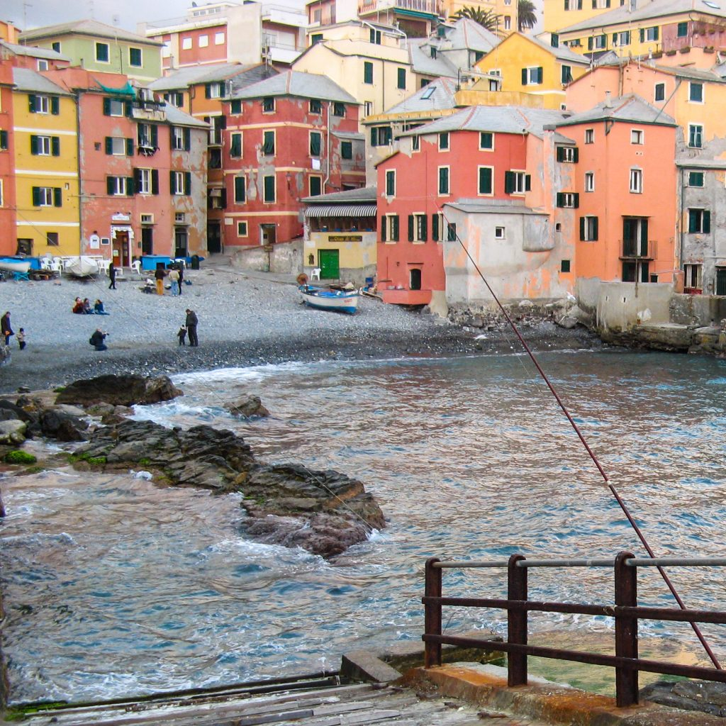 Genova Boccadasse beach